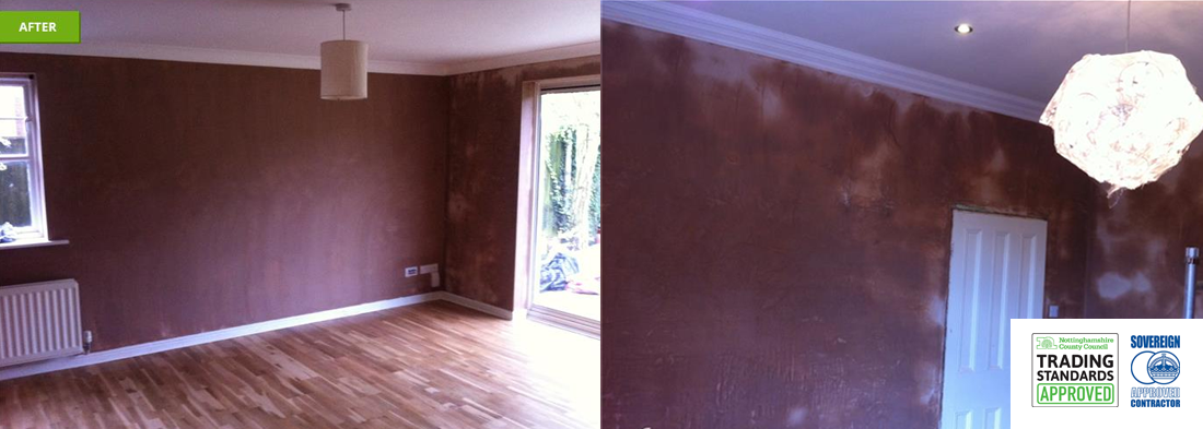 before and after pictures of our plastering work in nottingham