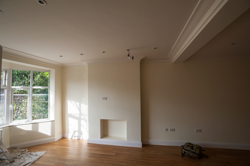 recent project by our plasterer in nottingham